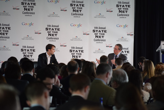Crowd for Keynote Conversation with Representative Bob Goodlatte and Coinbase Co-Founder Fred Ehrsam