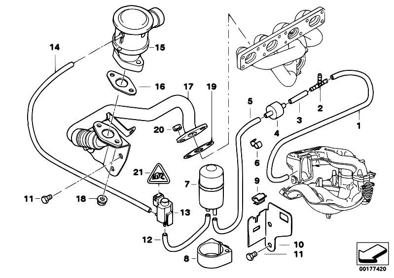 original parts for e46 316i 1 9 m43 sedan engine air
