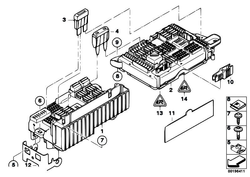 bmw x5 e70 rear fuse box diagram
