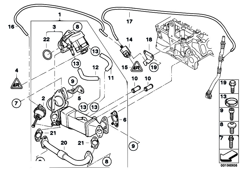 2006 bmw x3 Motor diagram