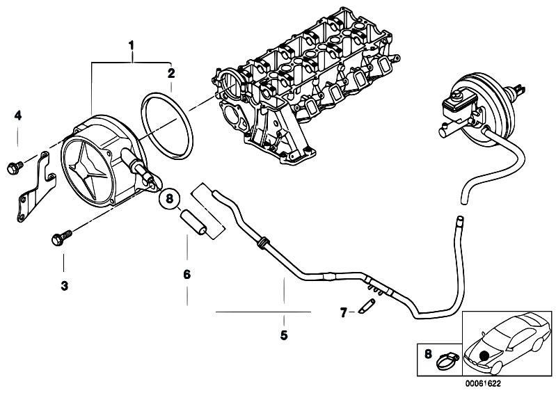 bmw e46 fuel filter vacuum hose