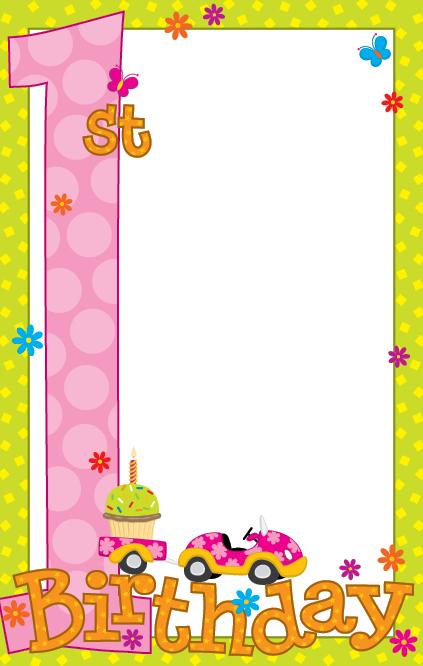 blank birthday invitation - shefftunes - printable girl birthday invitation cards