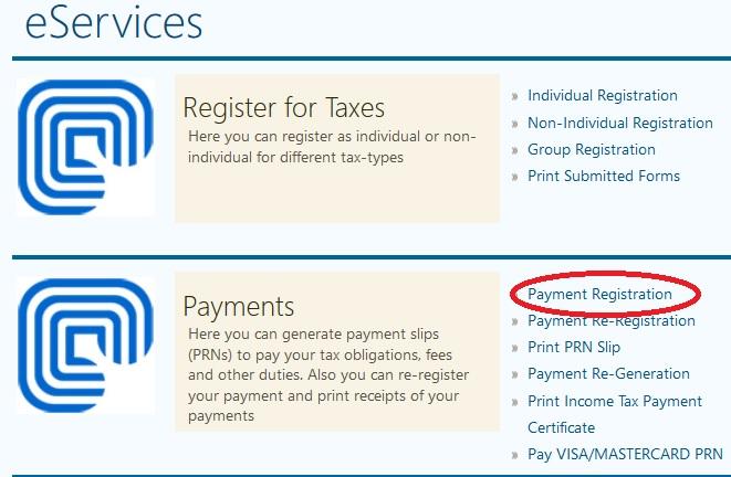 uragoug Payment Registration  Print Slip Online  Uganda Revenue
