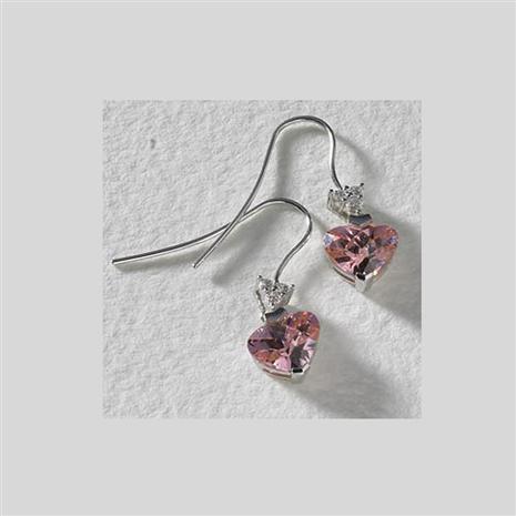 Sweetheart DiamondAura Pink Heart Earrings