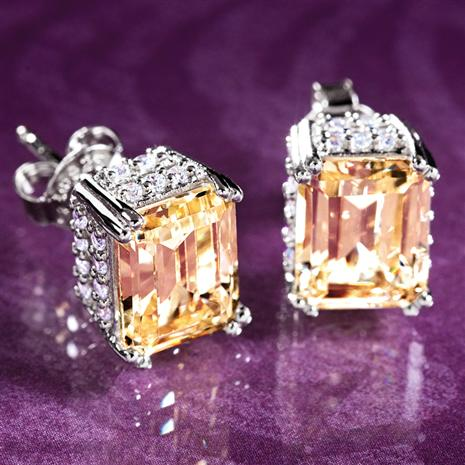 Emerald-Cut DiamondAura Gial Earrings