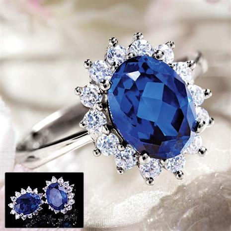 Royal Proposal Scienza Sapphire Ring & Free Earrings Set
