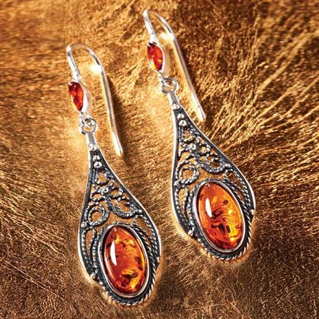 Baltic Honey Amber Earrings
