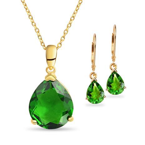 Helenite Necklace & Earring Set
