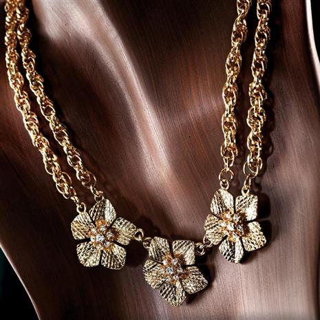 Epiphany Golden Flower Necklace