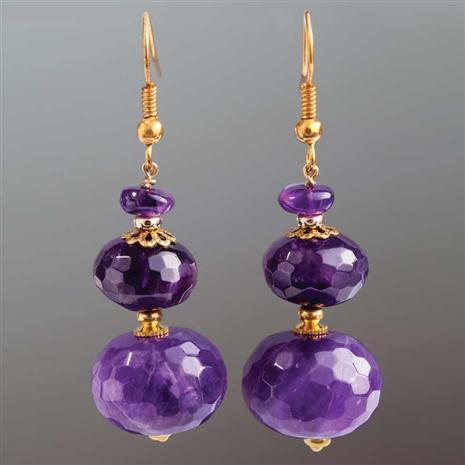Rustica Amethyst Earrings