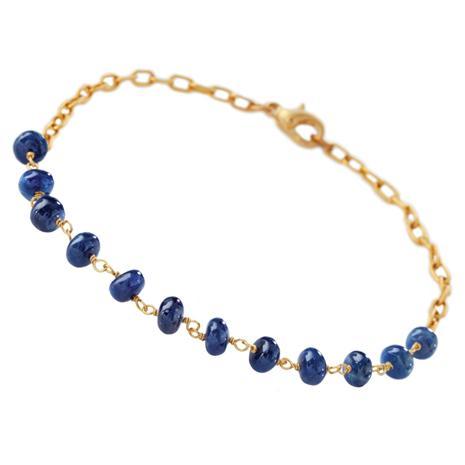 Surrender Sapphire Bead Bracelet