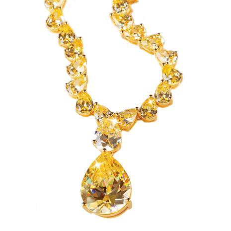 Canary DiamondAura Coronation Necklace & Pendant Collection