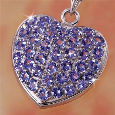 Rare Love Tanzanite Necklace