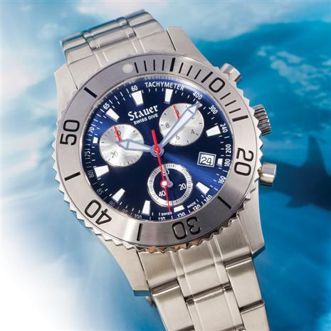 Stauer Bathos Dive Chronograph Mens Watch
