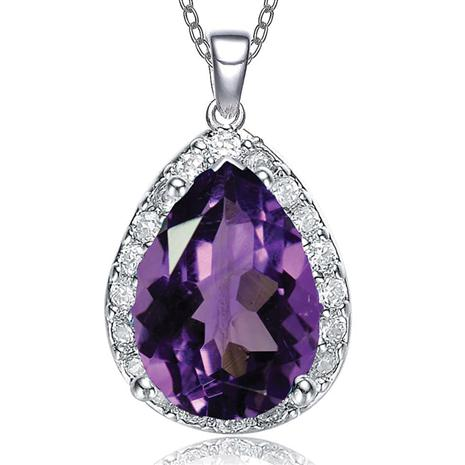Purple DiamondAura Paradise Pendant