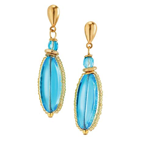 Azzurro Murano Glass Earrings