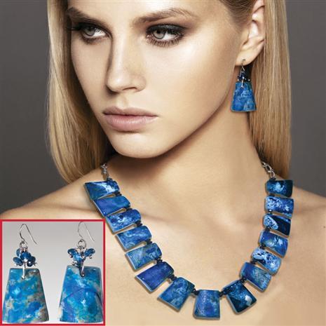 Navia Jasper Necklace & Earrings Set