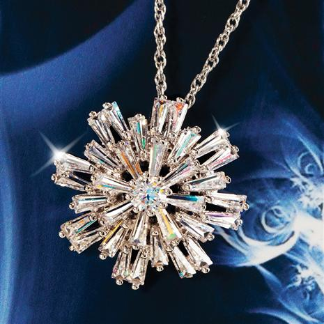 DiamondAura Silent Night Snowflake Pendant