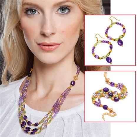 Flambeaux Necklace, Bracelet & Earrings Set