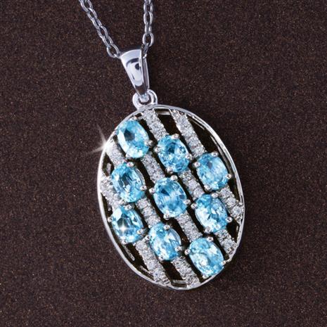 Eterna Blue Zircon Necklace