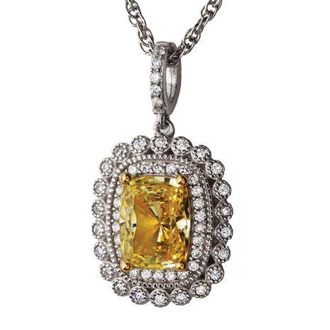 Tuscana Canary DiamondAura Necklace
