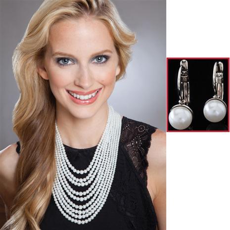 Nueve Necklace & Earrings Set