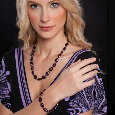 Lusso Amethyst Necklace & FREE Bracelet