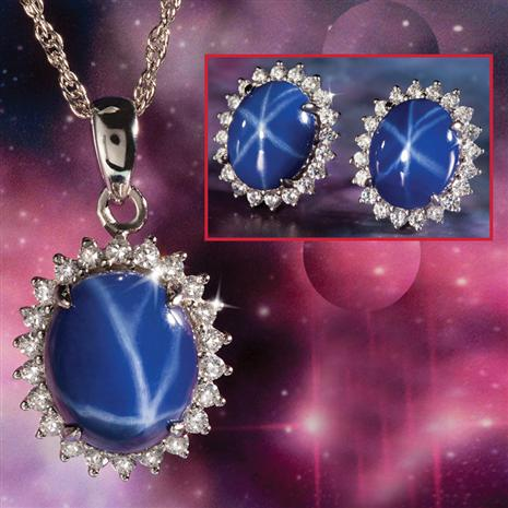 Stauer Celestial Necklace & Earrings Set