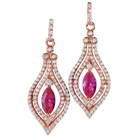 Diamond Aura Eternal Flame Earrings