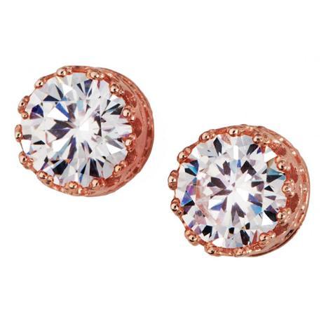 Diamond Aura Rose Gold Stud Earrings