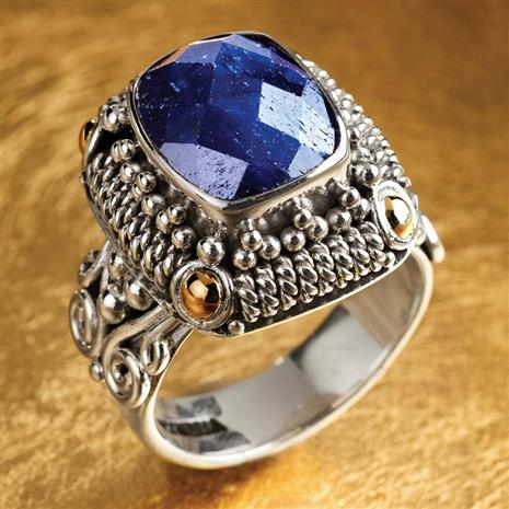 Balinesian Artisan Crafted Sapphire Ring
