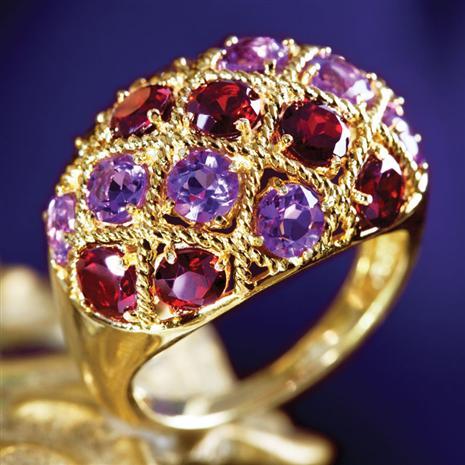 Chambord Garnet & Amethyst Ring