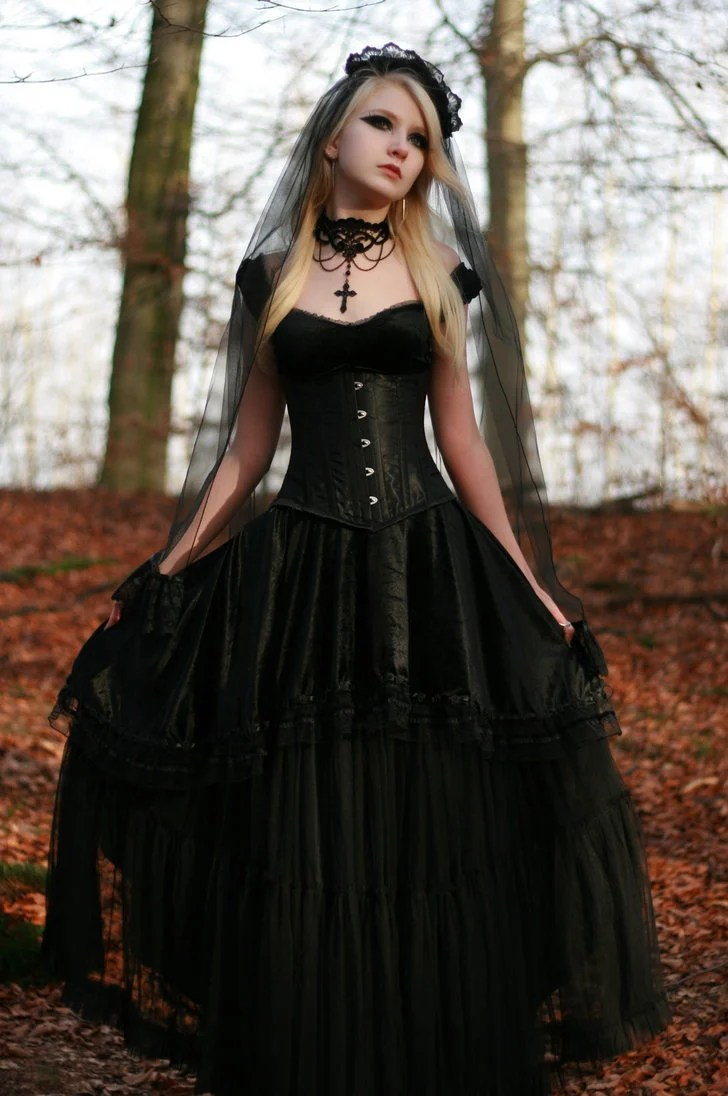 beautiful black wedding dresses red gothic wedding dress Black Wedding Dresses Stay At Home Mum
