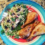 Lunch 3 Drumsticks Trader Joes Broccoli Slaw P 64g Chellip