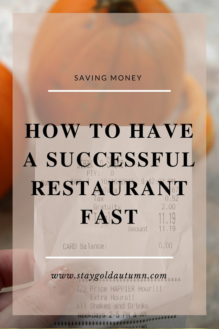 how to have a successful restaurant fast p