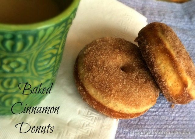cinnamon baked donuts