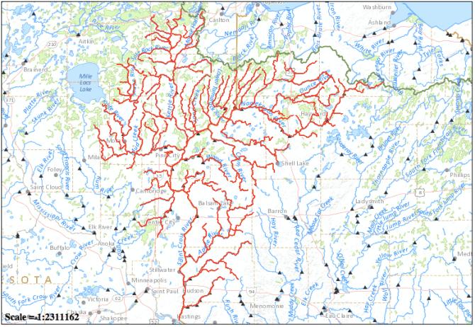 Map via National Atlas Streamer
