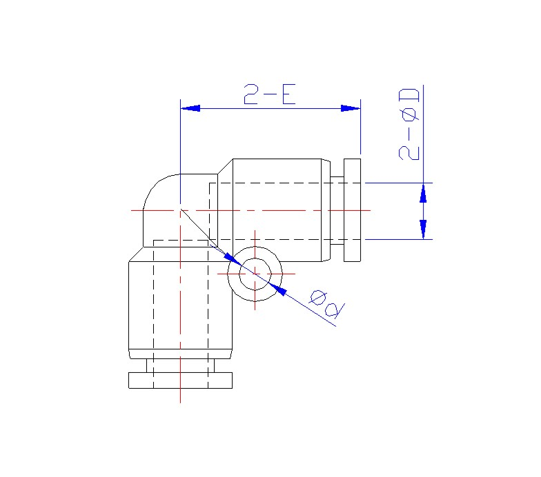 schematic drawings of copper fittings