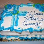 Welcome Father George Cake