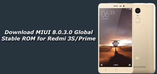 Download MIUI 8.0.3.0 Global Stable ROM for Redmi 3S