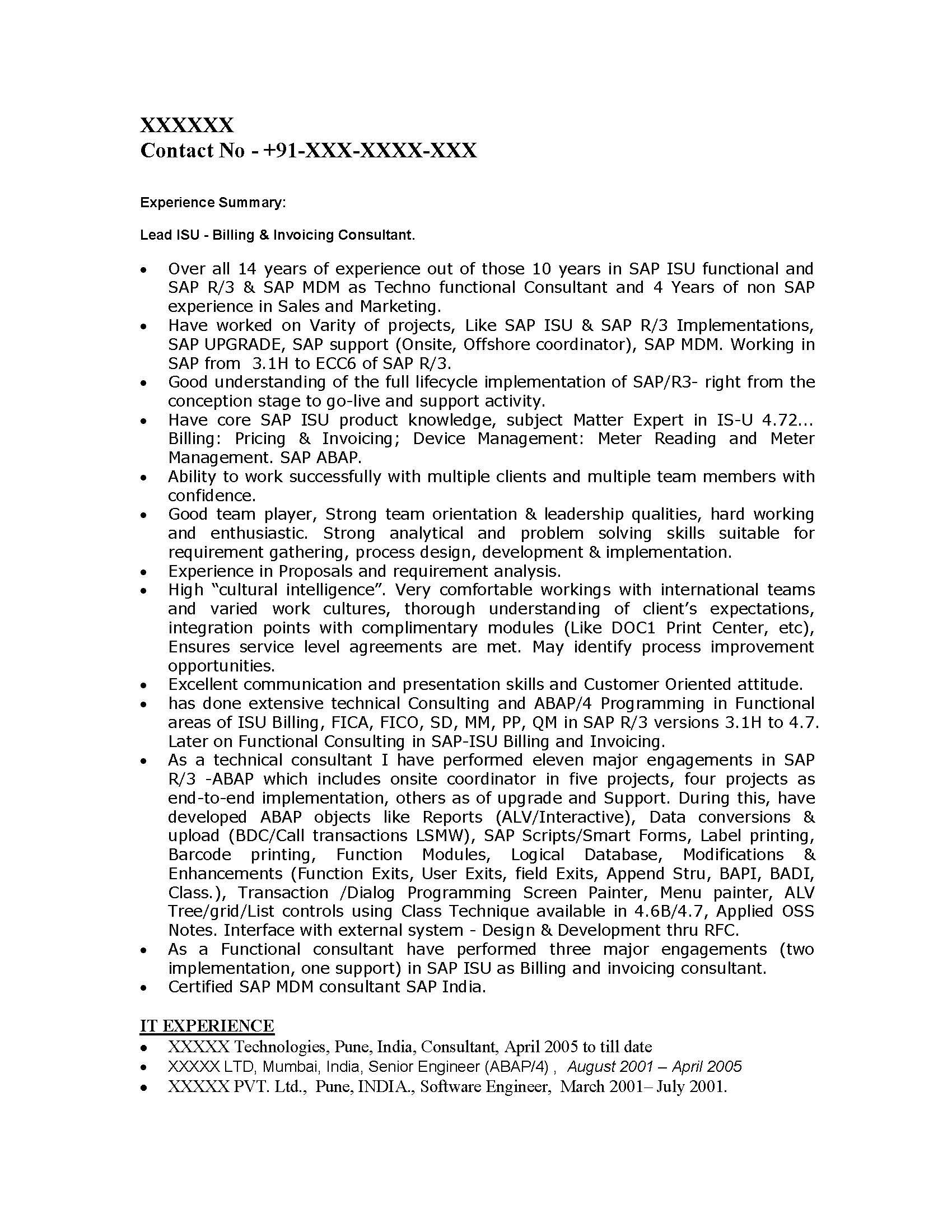 sap abap resume cover letter ccna resume sample ccna sample resume – Sap Abap Resume Sample