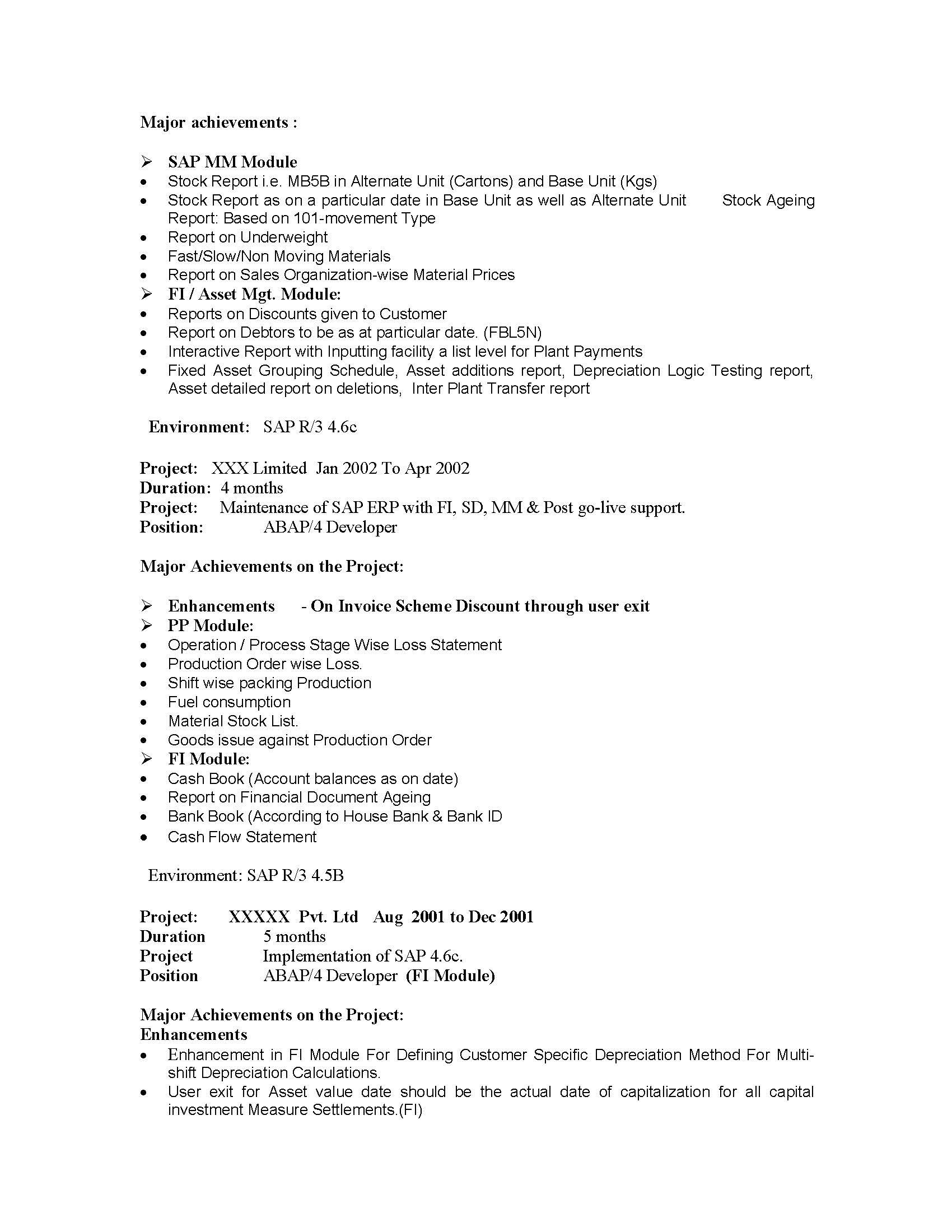 100 consultant resume sample techno functional consultant