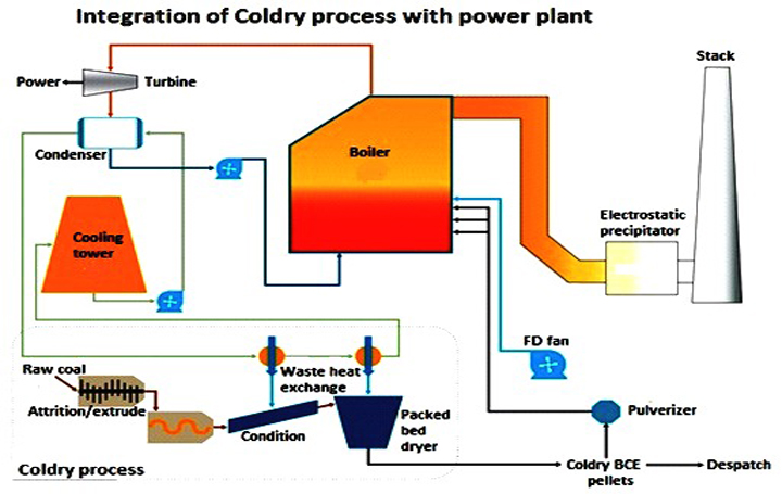 Coldry technology for low rank coal drying -