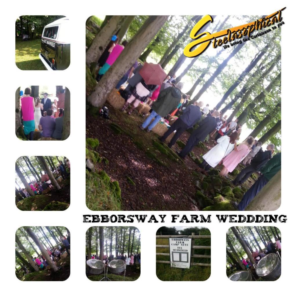 Ebborsway farm wedding steel band steelasophical