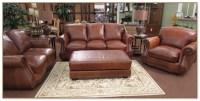 Light Gray Leather Sofa