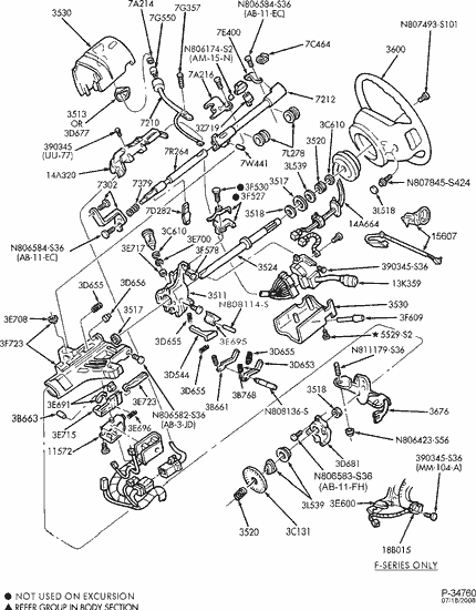ford ranger steering column diagram ford