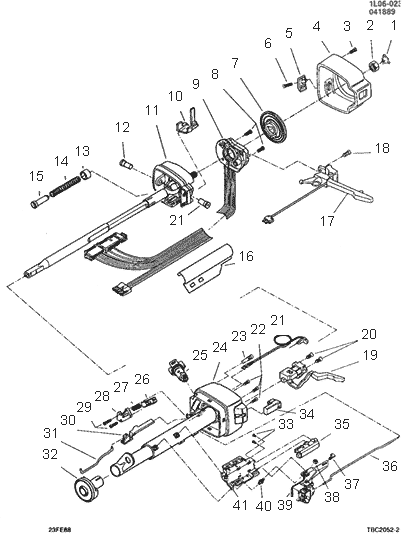 Ford 2000 Tractor Dash Wiring Exploded View For The 1989 Chevrolet Beretta Tilt