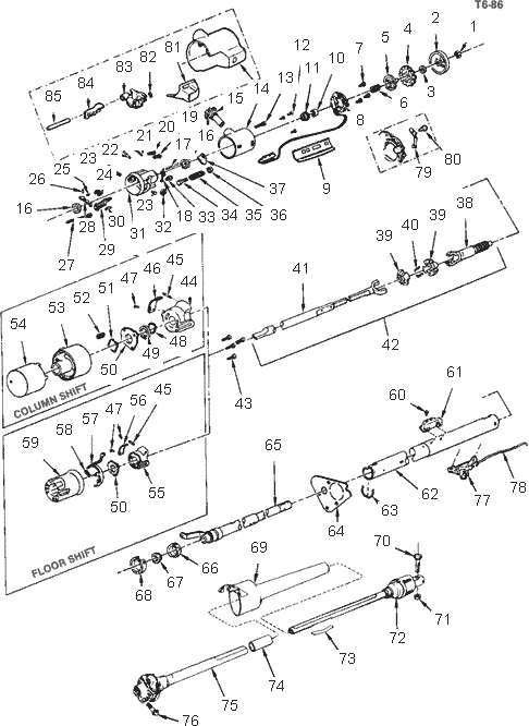 1985 chevy truck steering column diagram