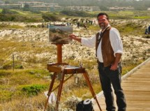 Artist Stefan Baumann captures a view of Asilomar at the Plein Air Convention 1013. Baumann demonstrates plein air painting as a guest VIP of Plein Air Magazine. This event was an important place to be if you are going to be a plein air artist.