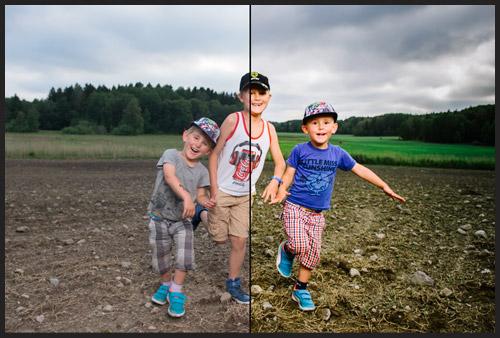 fore-efter-bild-portratt-aker-profoto-b2-deep-umbrella-en-blixt-barn-gruppbild